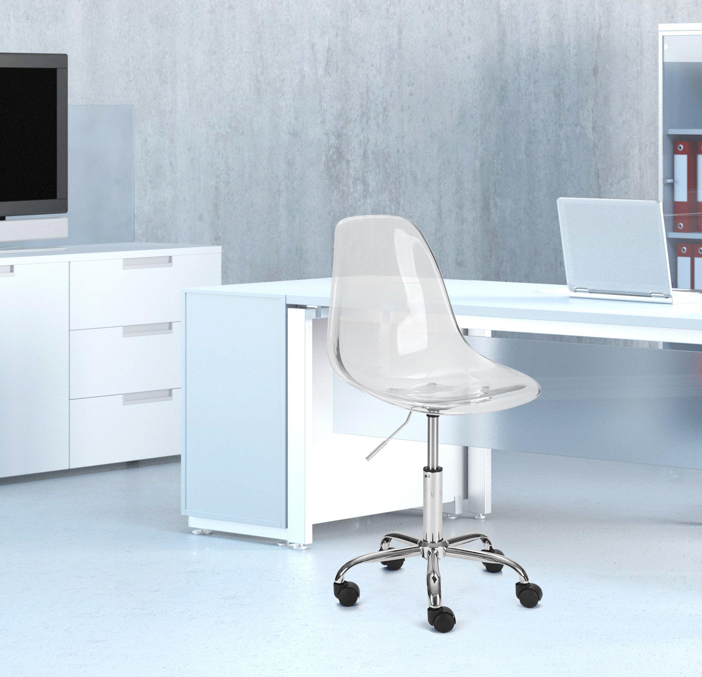 clear desk chair walmart