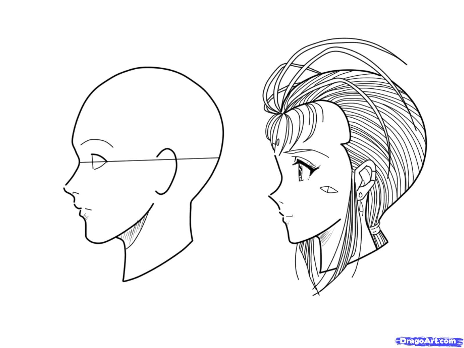 Side View Anime Face Drawing Drawings Nose Drawing
