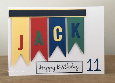 My Craft Room Makes A Birthday Card For An 11 Year Old