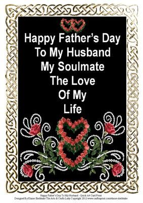 Happy Fathers Day To My Husband A4 Quick Card Front Happy
