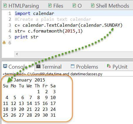 Python Calendar Tutorial With Example Python Programming