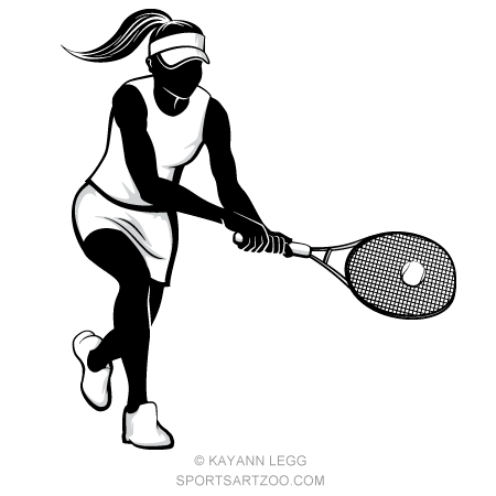 Woman Tennis Silhouette Sportsartzoo Tennis Drawing Tennis Tennis Players Female