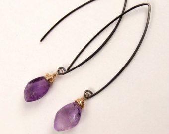 Rose Gold Dangle Earring Wire Wrap Mystic Quartz Earring Pink Gold