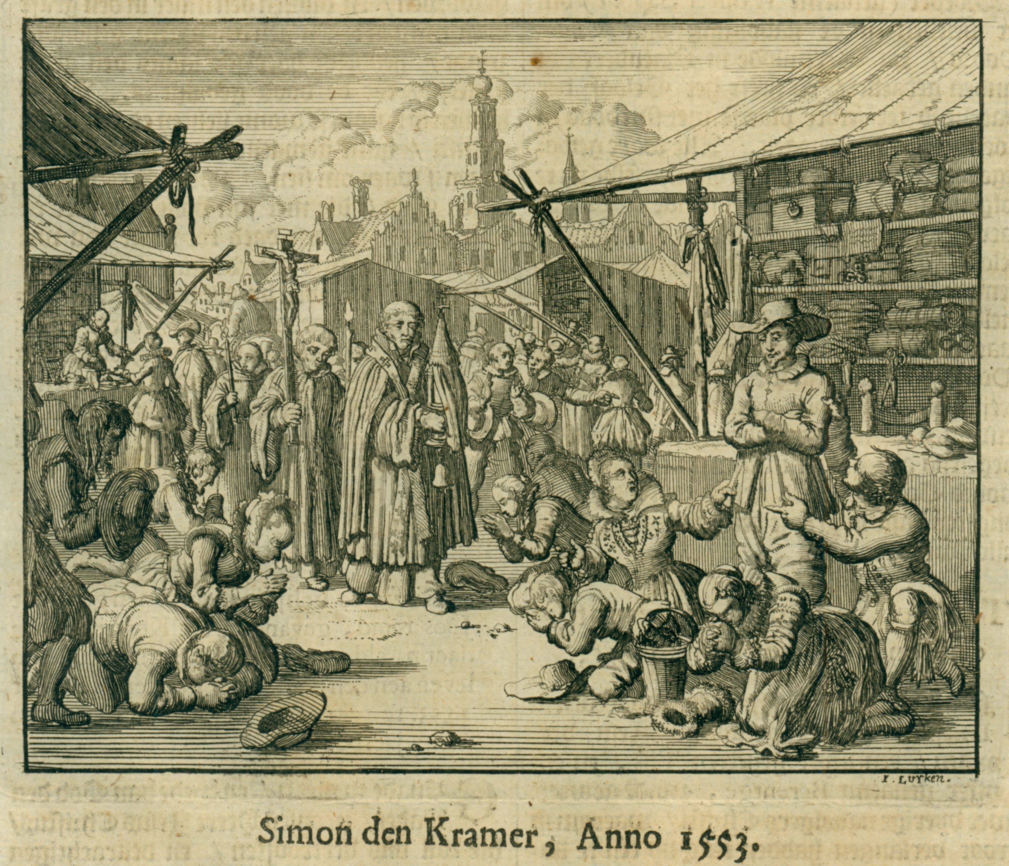 Simon de Kramer refused to bow to the communion wafer as it was paraded through the streets of Bergen op Zoom, 1553