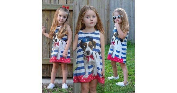 vestido infantil com listras