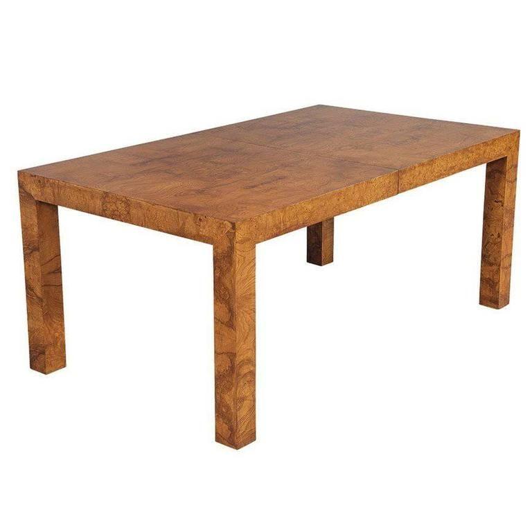 Milo Baughman Burled Walnut Dining Table Milo