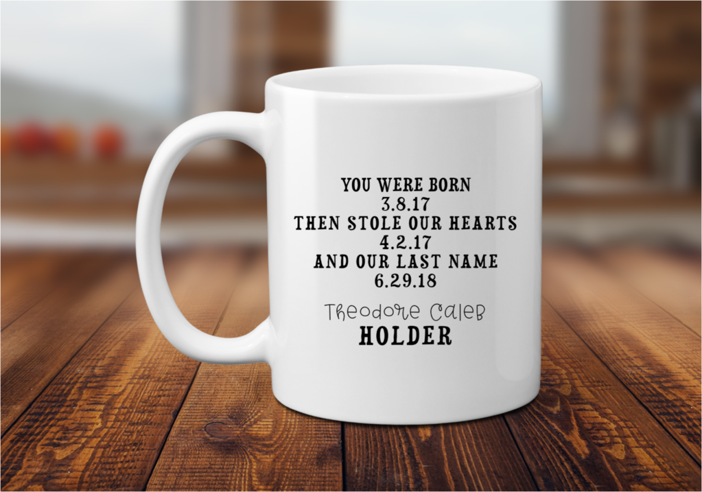 Adoption Custom Coffee Mug or Tea Cup Gift Tea cup gifts