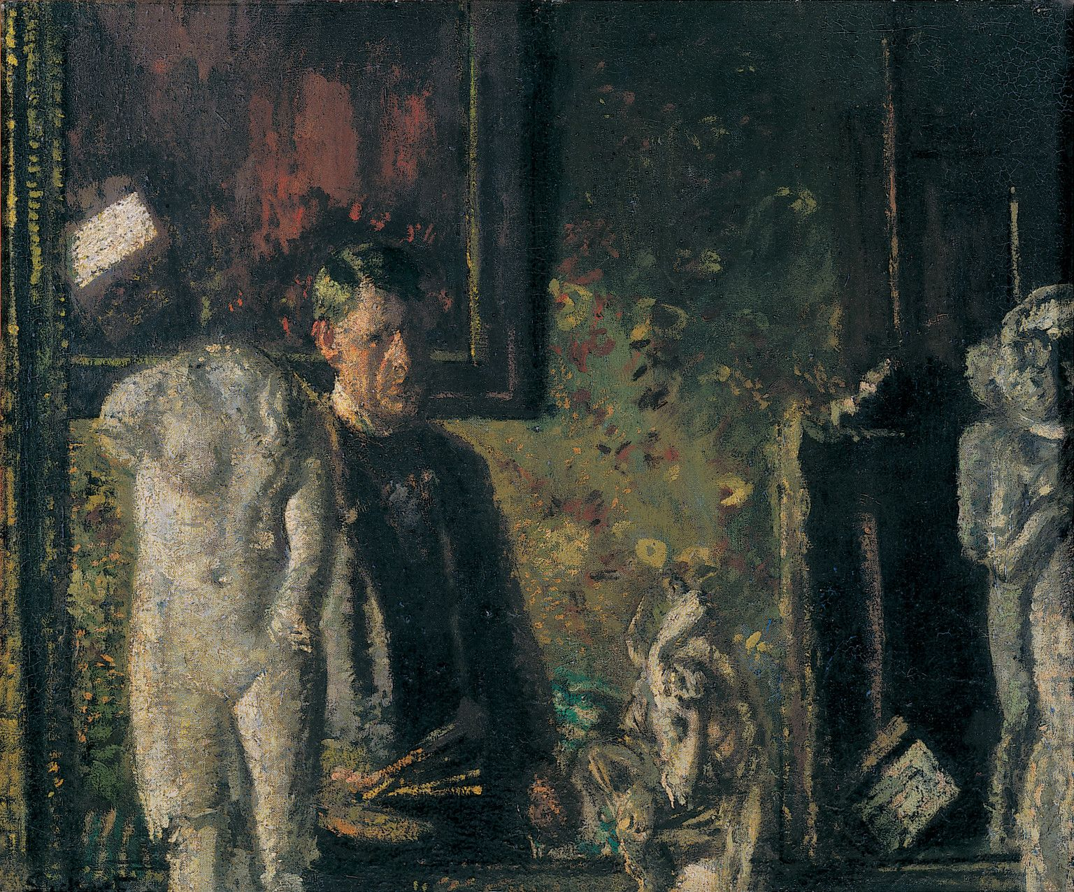 Walter Sickert - Self-Portrait (1907) The Painter in his Studio
