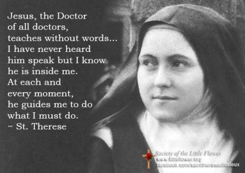 St Therese Of Lisieux On Suffering To Her Novices I Always Want