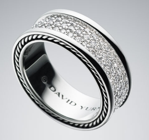david yurman mens white diamond pave ring m wedding ring - David Yurman Mens Wedding Rings
