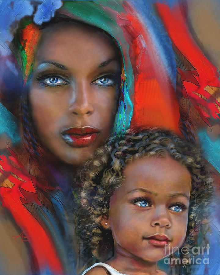 Mother And Child by Angie Braun
