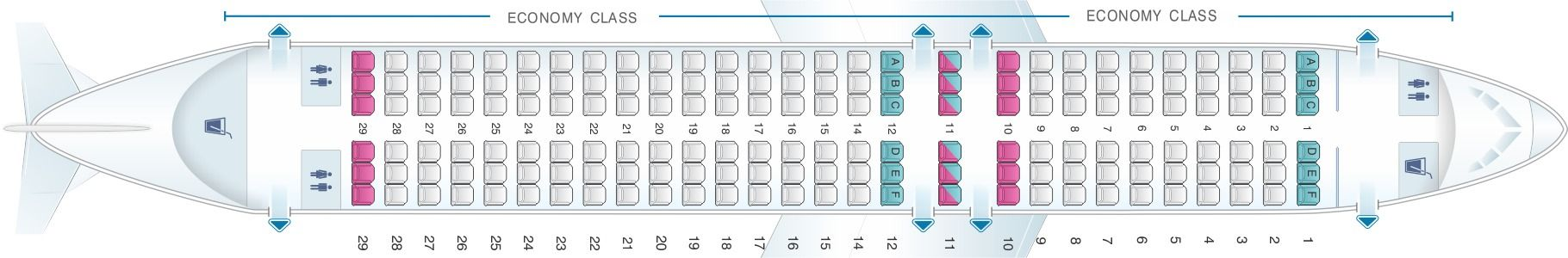 Seat Map And Seating Chart Airbus A320 200 Scandinavian Airlines Sas China Airlines Boeing Boeing 737
