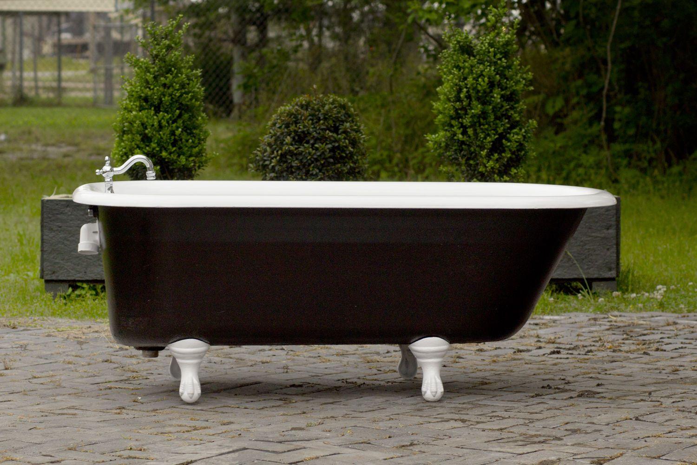 Antique Refinished 5 Clawfoot Bathtub Black Cast Iron Porcelain Bathtub Package Bathtub Clawfoot Bathtub Refinish Bathtub