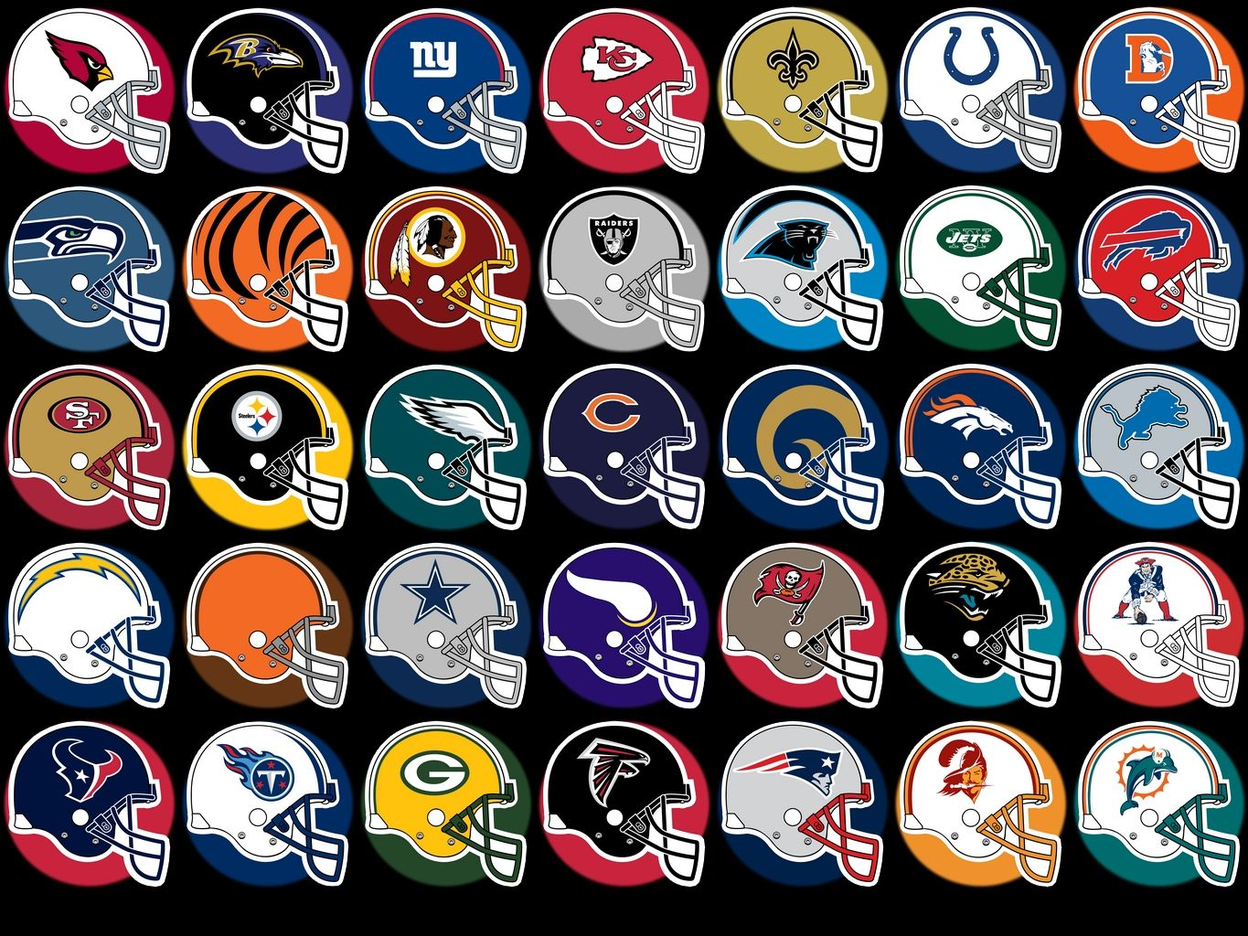 All Nfl Team Logos And Names On Helmet