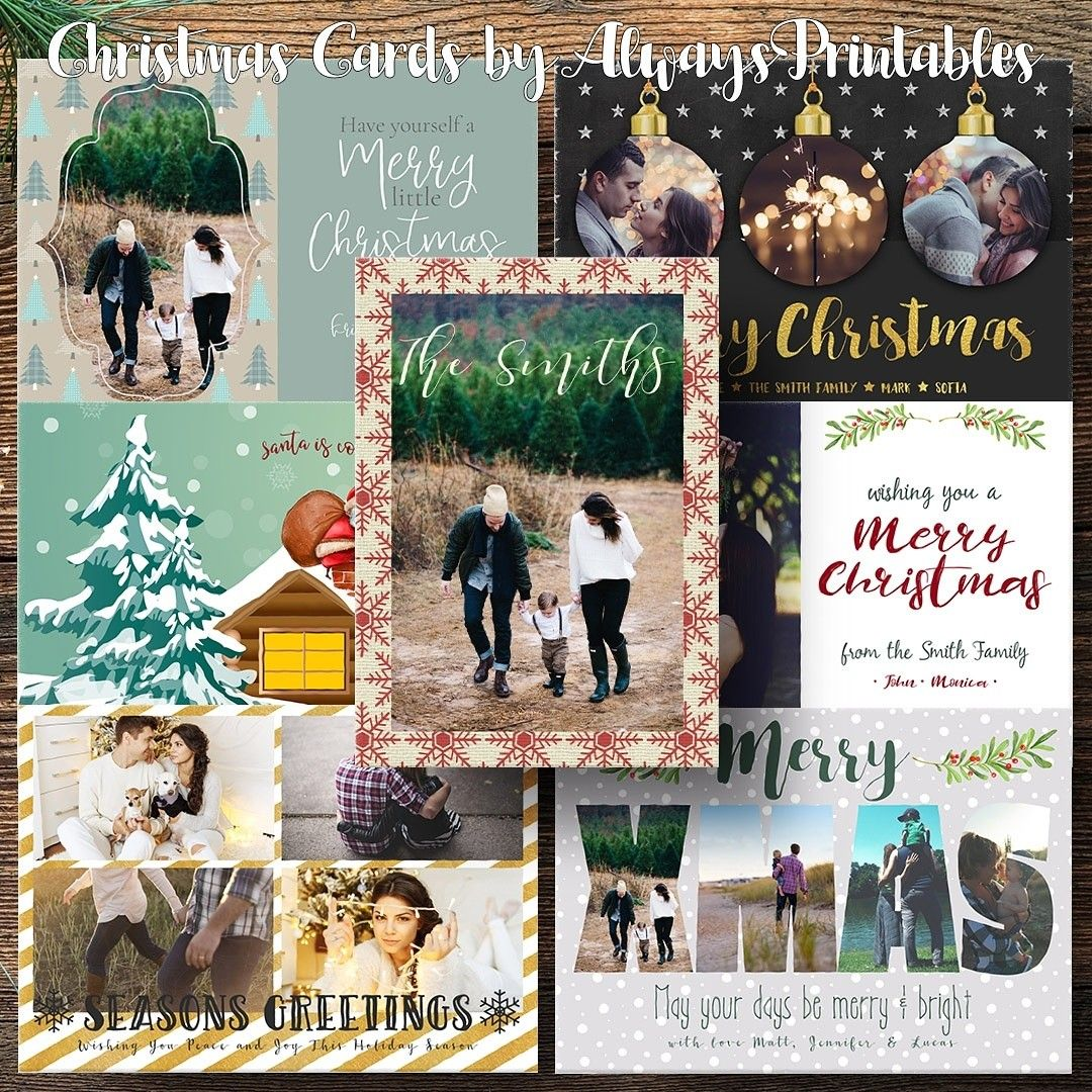 Christmas Cards by Always Printables on Etsy. Get an easy to print ...