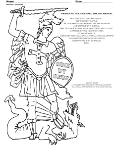 Archangel Michael Prayer And Coloring Page St Michael Prayer Angel Coloring Pages St Michael Archangel Prayer