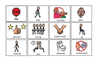 Vital Visuals: Visual Prompts for Children with Autism! String these on a lanyard so you always have them handy!