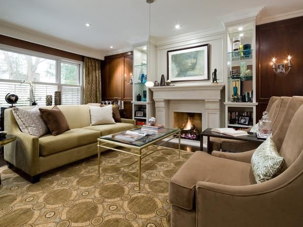 Captivating Hgtv Transitional Living Room Design