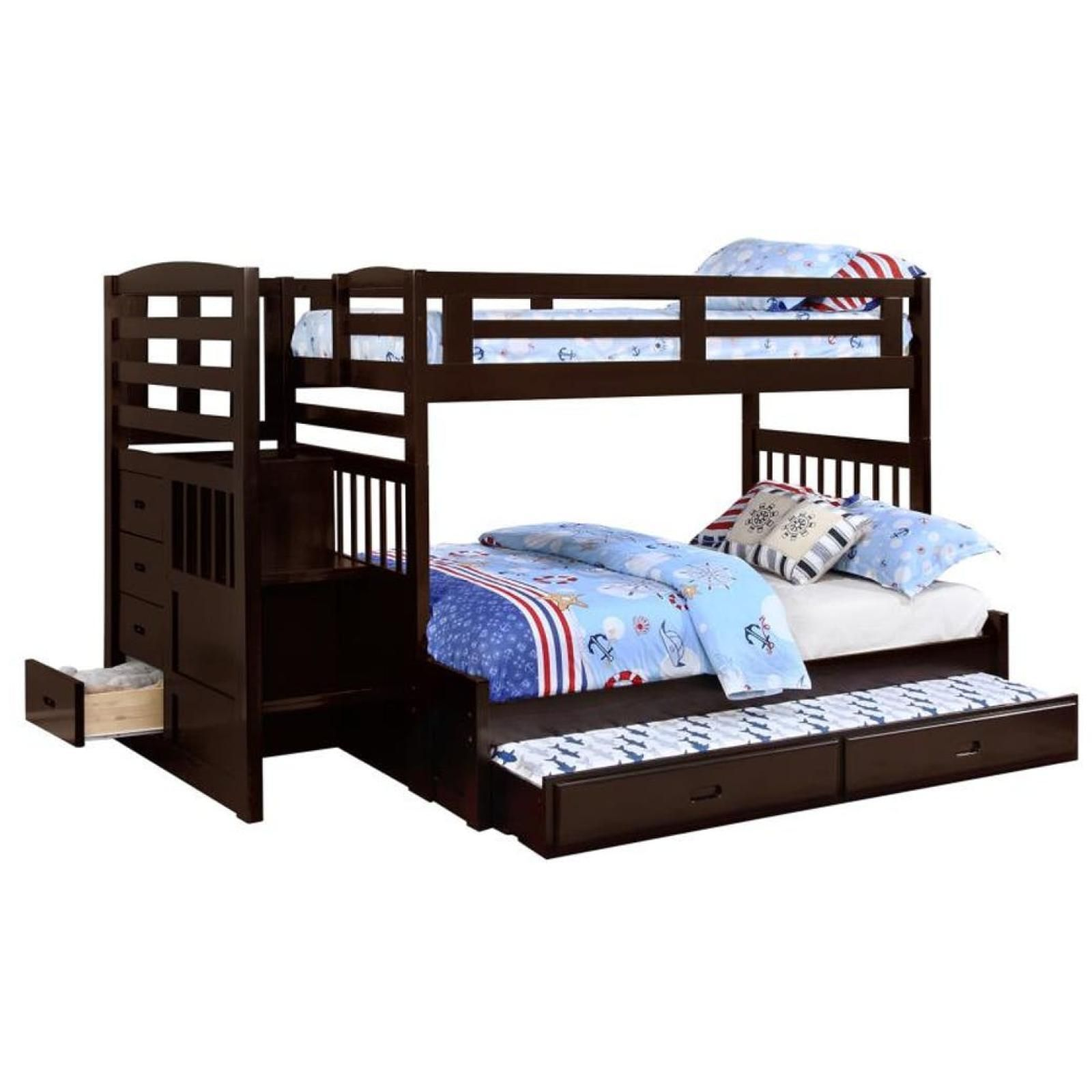 Dublin Twin/Full Bunk Bed with Staircase & Trundle Bunk