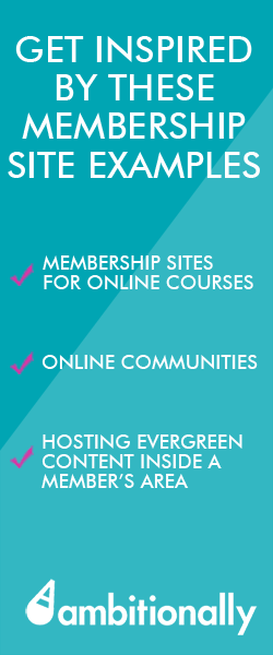 membership site examples inspiration for your members area heart