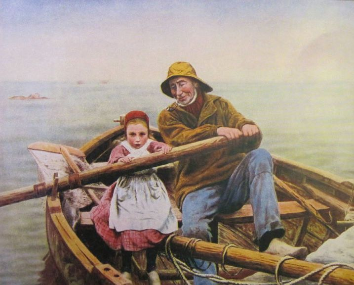 Print Of Emile Renouf S Painting Un Coup De Main The Helping