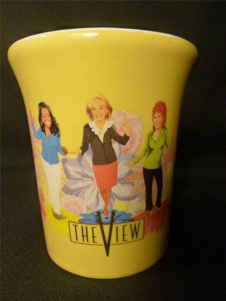 The View Tv Show Yellow Coffee Mug Spring Theme Walters Vieira Jones Behar