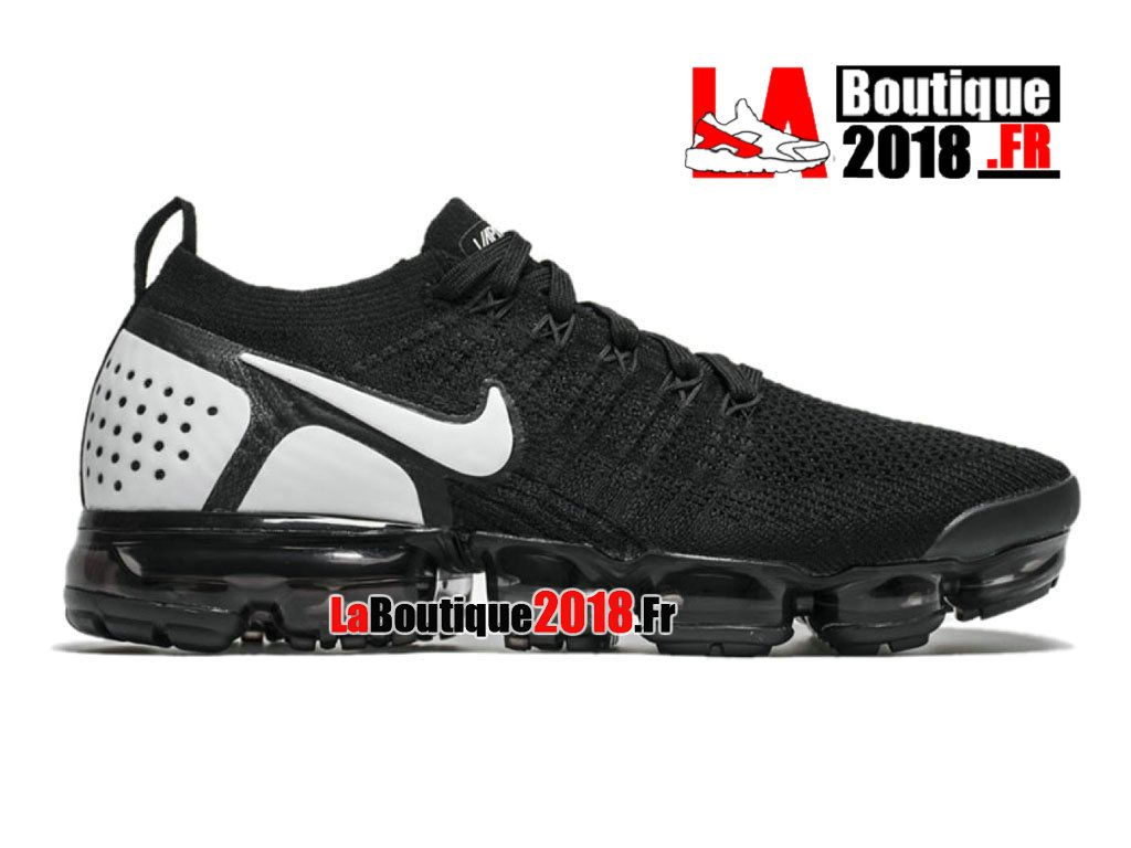huge selection of 87c00 85376 Nike Air VaporMax Flyknit 2.0 2018 NoirBlanc 942842-010 Chaussure de Running  Nike Pas Cher Pour Homme
