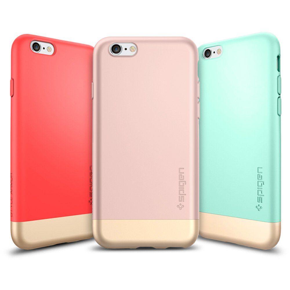 new arrival 8d9cc 96e23 Amazon.com: iPhone 6s Case, Spigen® [Style Armor] Safe Slide [Rose ...
