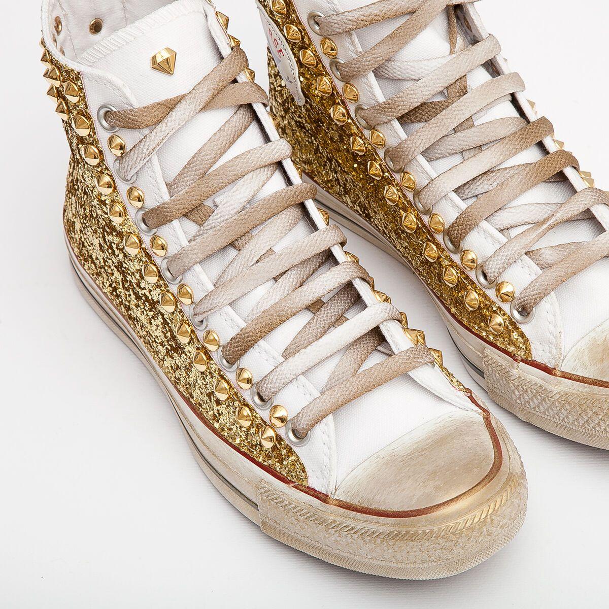 converse donna oro glitter