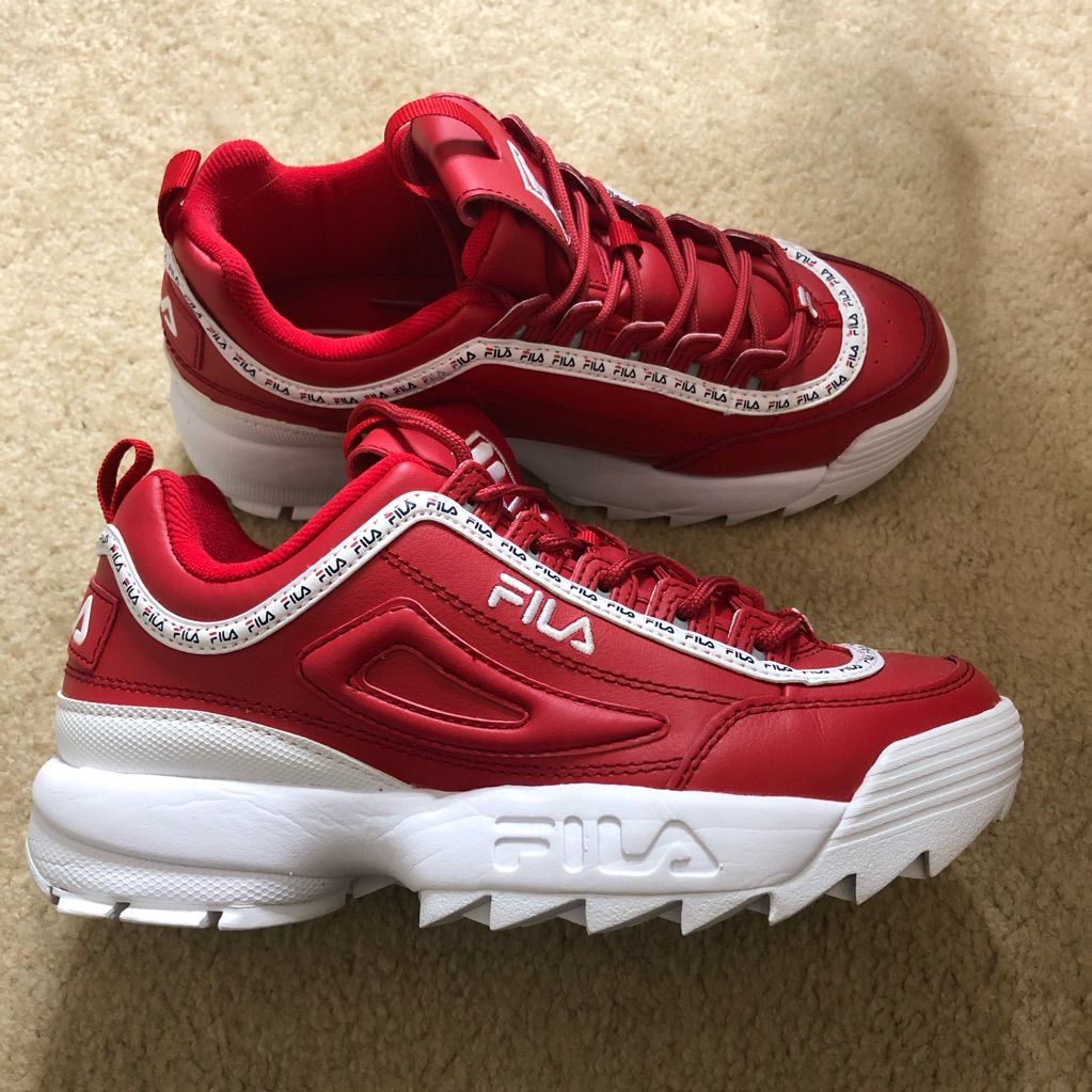 Fila Shoes | Red Fila Disruptors | Color: Red | Size: 8.5