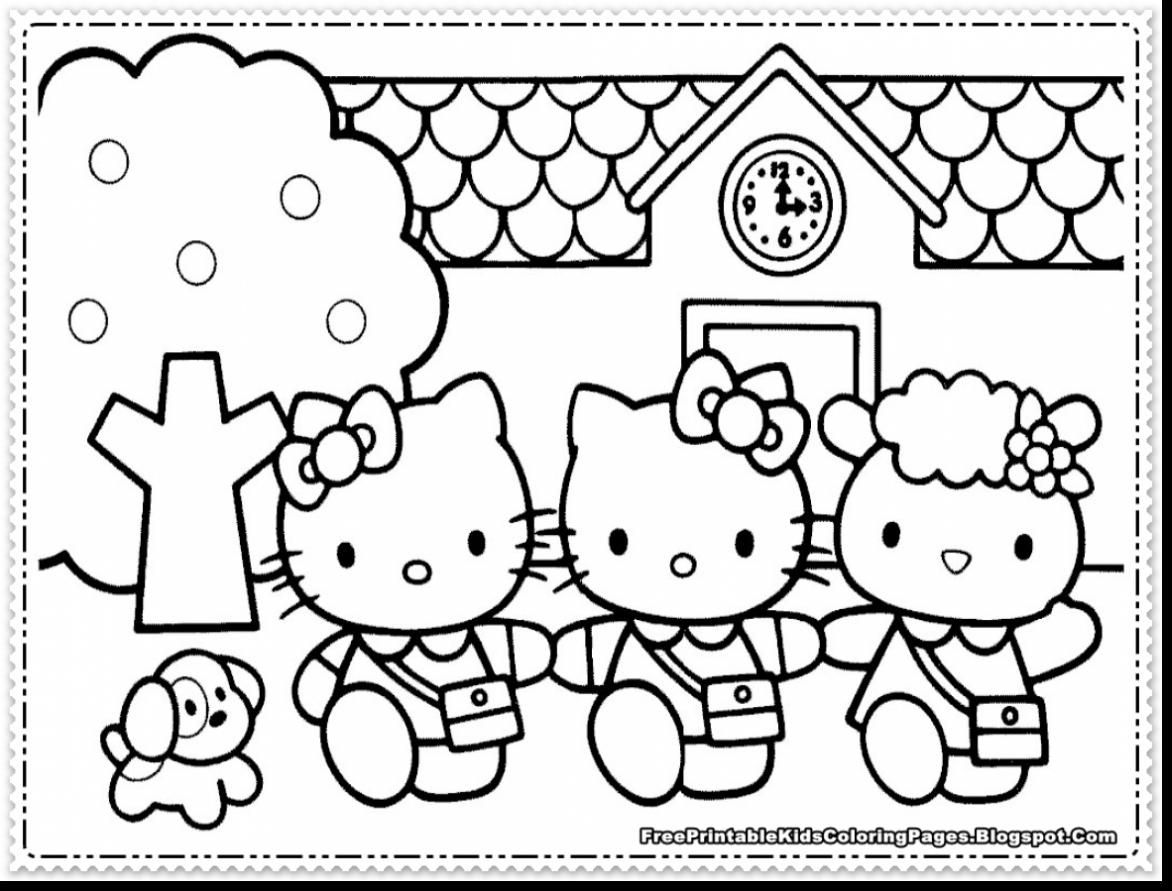 Hello Kitty Coloring Sheets Pdf Coloring Pages Allow Kids To Accompany Their Favorite Charac Kitty Coloring Hello Kitty Coloring Hello Kitty Colouring Pages