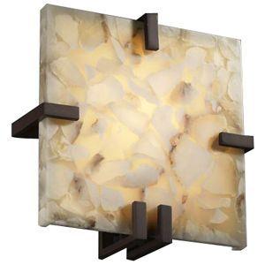 Alabaster Rocks Clips Square Wall Sconce Wall Sconces Justice Design Sconces