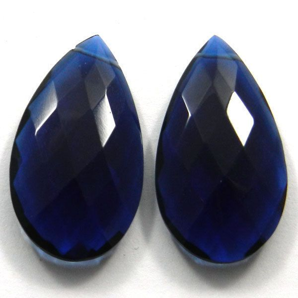 Superb Ink Blue Hydro 18x25mm Pear Briolette Cut Woman Jewelry Making Gemstone #handmade #magicalcollection #gemstones #jewelry