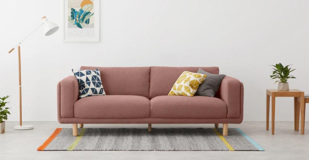 Karson Canape 3 Places Rose Brule Made Com In 2020 Sofa 3 Seater Sofa Seater Sofa