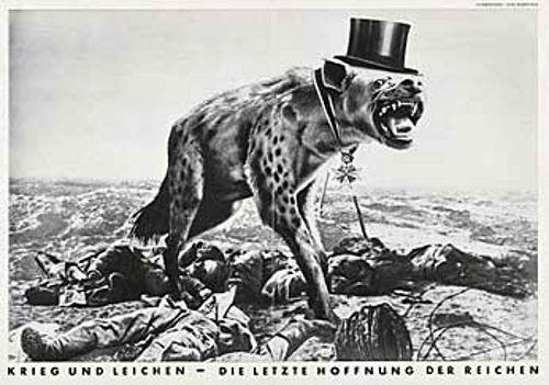 John Heartfield  -  Krieg und Leichen - Die letzte Hoffnung der Reichen (War and Corpses - The Last Hope of the Rich)  1932