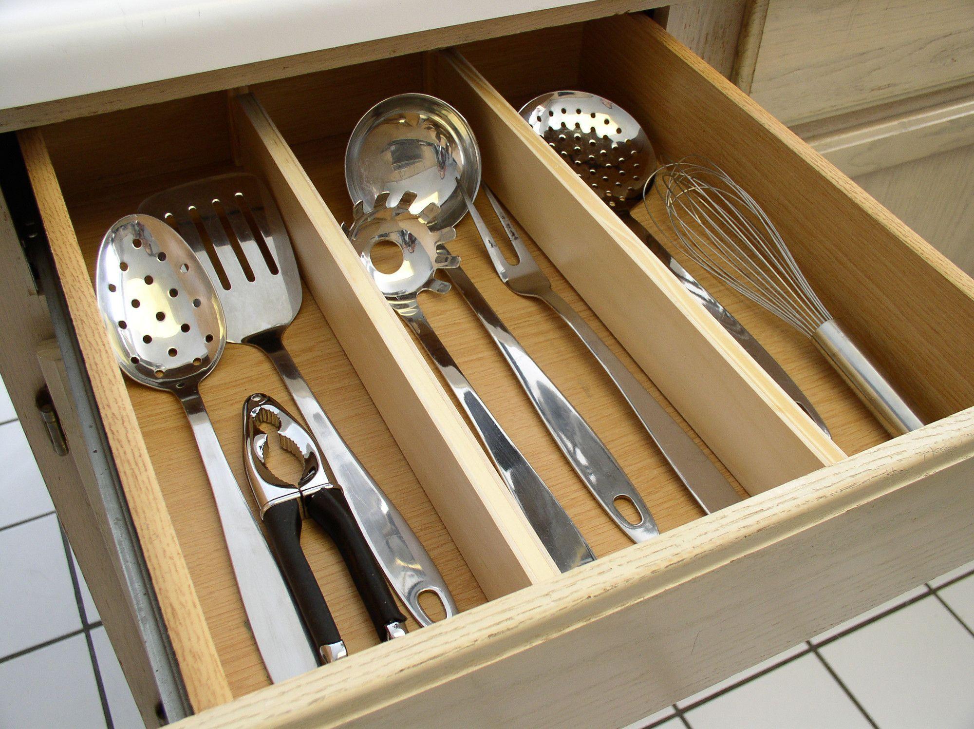 Natural wood kitchen drawer divider kitchen pinterest kitchen