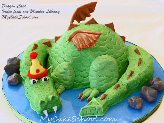 Dragon cake Dinosaur party Pinterest Dragon cakes Dragon