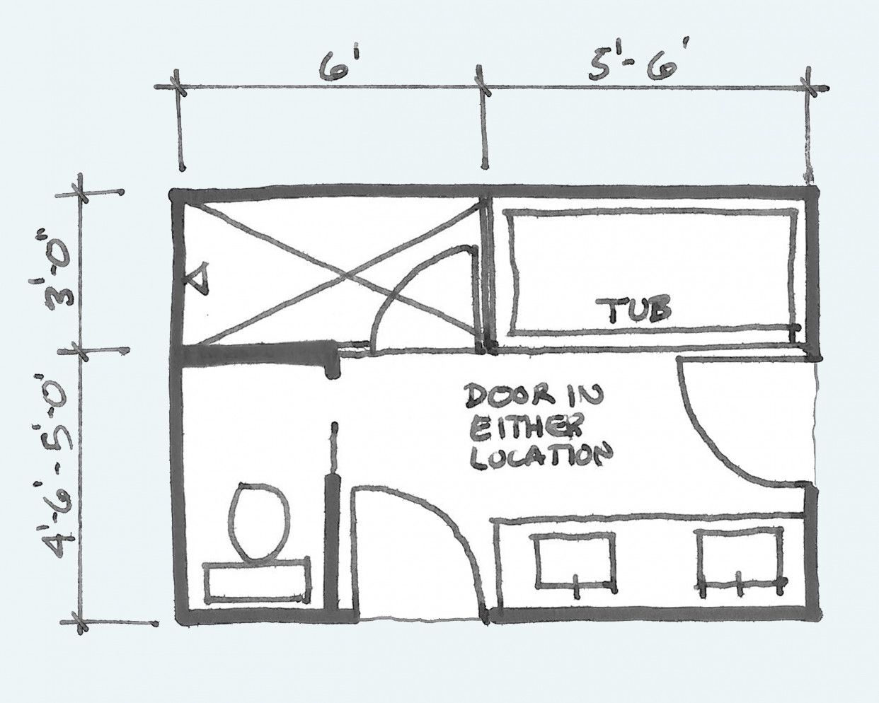 Photo of Common Bathroom Floor Plans: Rules of Thumb for Layout – Board & Vellum