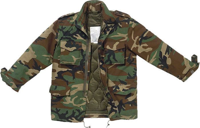 Woodland Camouflage M65 Coat Military M-65 Field Jacket with Liner Army  Camo  ArmyUniverse 5141d43931e