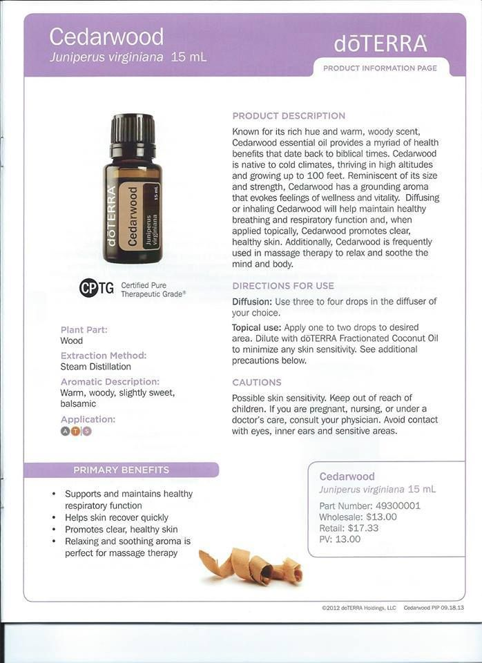 I love the aroma of cedarwood essential oil, but I\'ve so far only ...