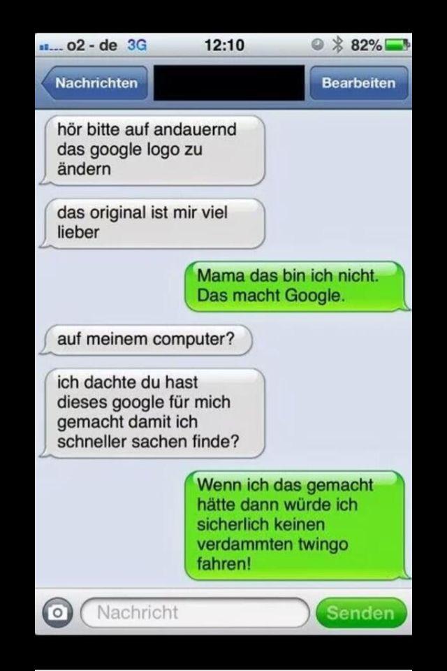 Lustiger deutscher iphone chat h tte ich nur google - Lustige bilder google ...