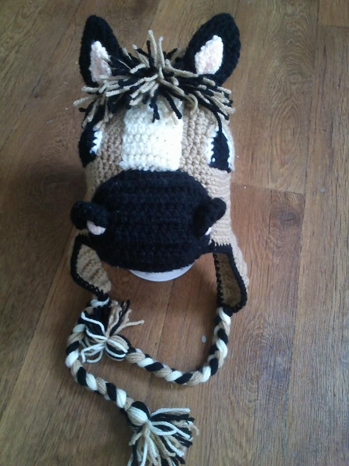 crochet horse hat  3c163416212