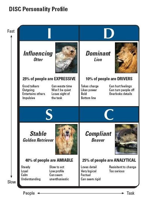 gary smalley personality profile test Personality inventory  personality profile chart lion 35 personality styles however, what you want  gained from gary smalley, disc style analysis, tim.