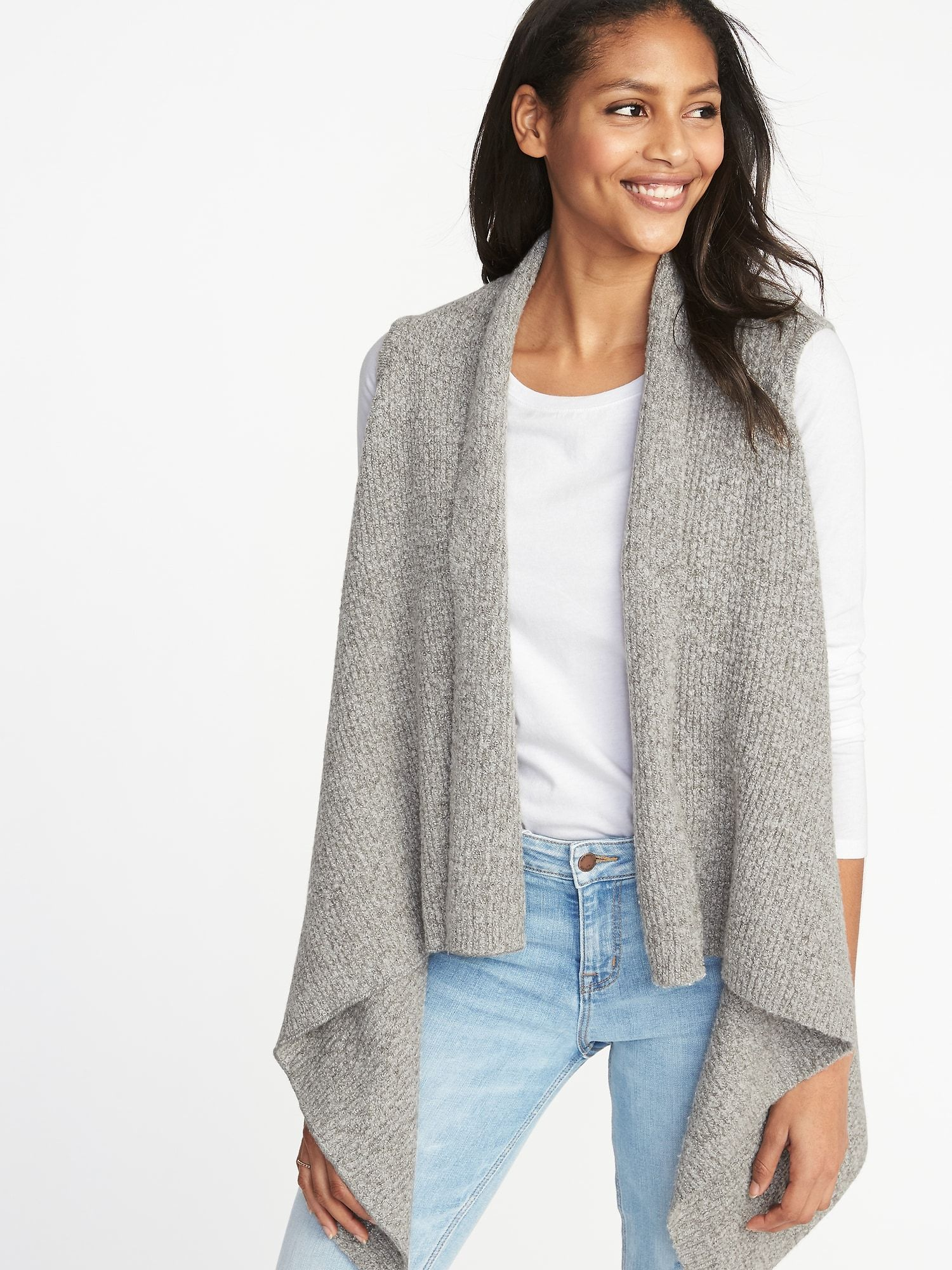Open Front Sweater Knit Vest for Women | Old Navy in 2019