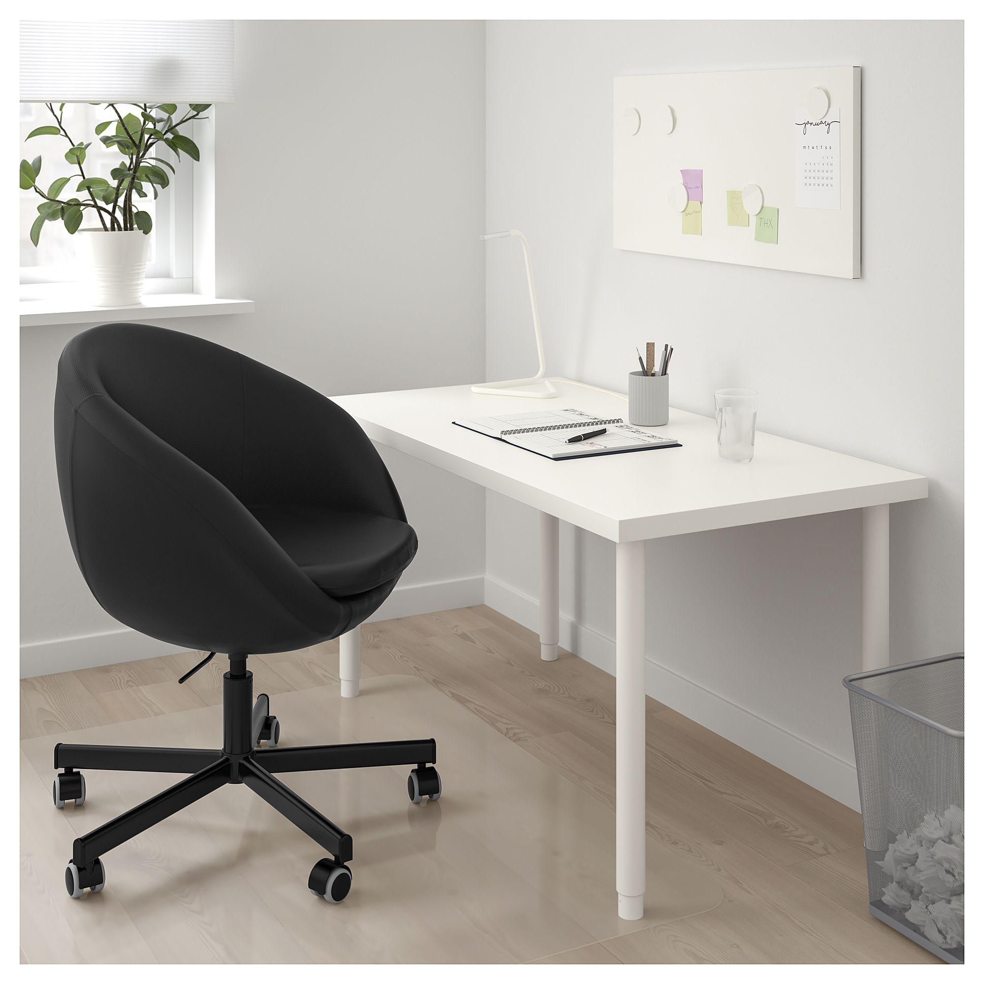 IKEA SKRUVSTA Swivel chair Idhult black in 2019 Swivel