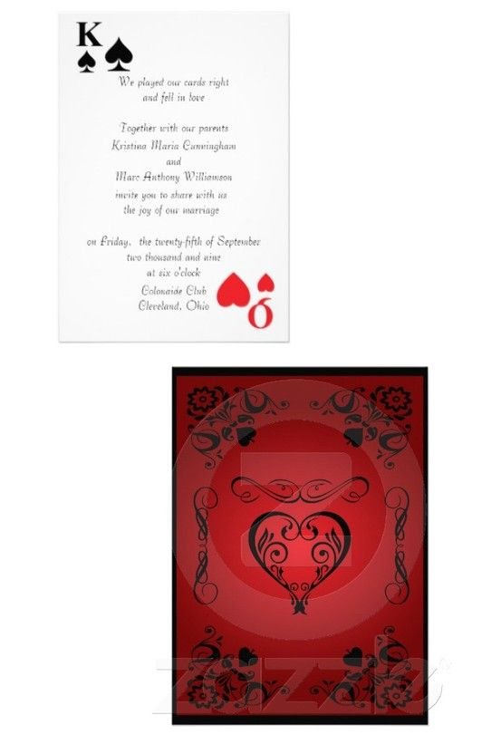 Kings Queens Playing Card Wedding Invitation 4 Zazzle Com Wedding Invitations Invitations Wedding Cards
