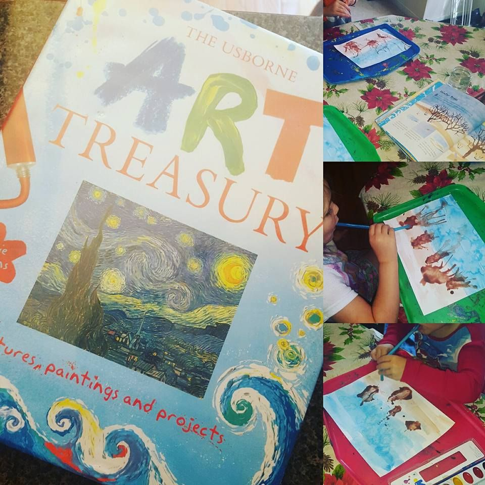 Homeschool Art with Usborne homeschool art