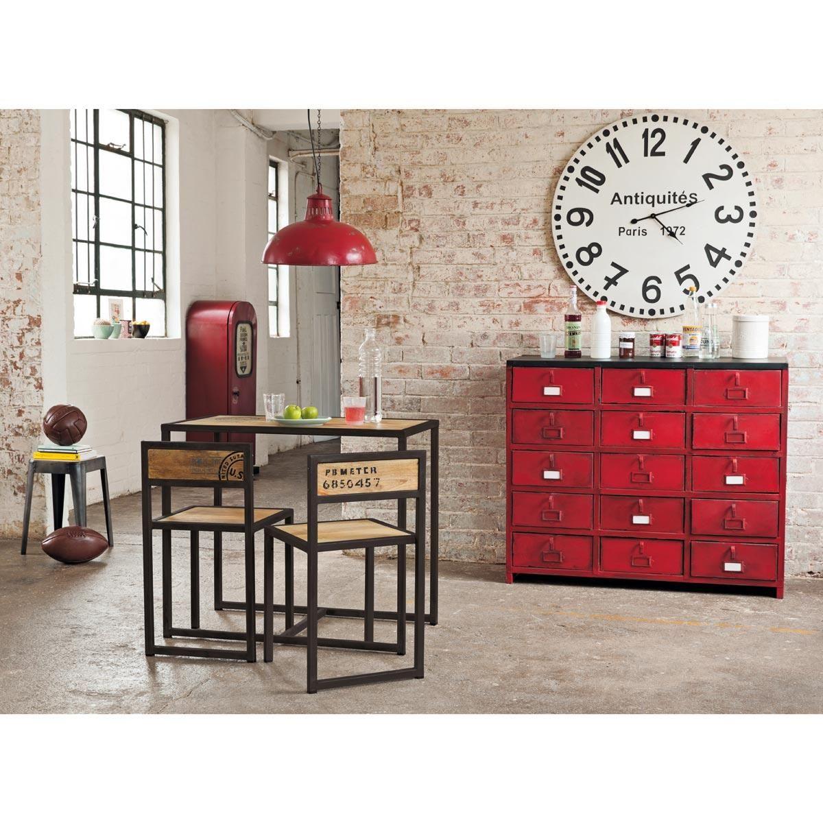 meuble pompe essence en m tal rouge h 126 cm brooklyn. Black Bedroom Furniture Sets. Home Design Ideas