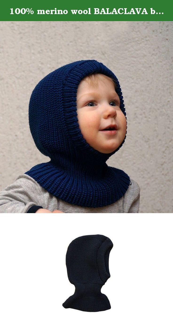 35fd71f72f6 100% merino wool BALACLAVA baby newborn girl boy unisex knit knitted hat  bonnet helmet coif