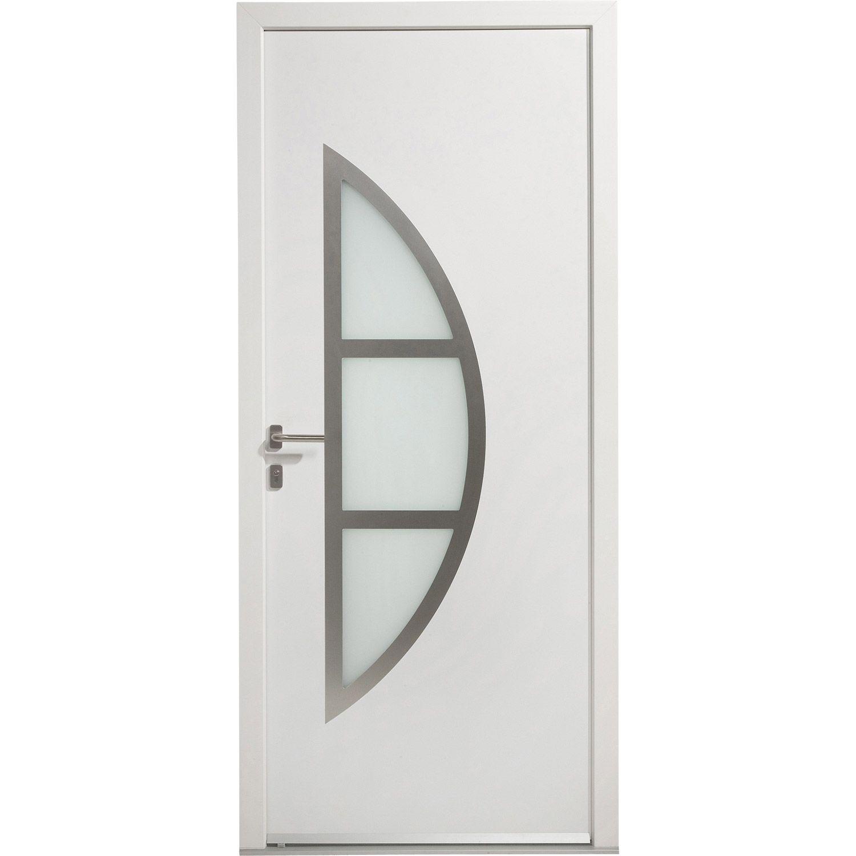Porte Entree Maison Pvc Bergen Excellence Poussant Droit H215 X L90cm Materiaux Menuiserie Porte Magasin Leroyme Porte Entree Maison Entree Maison Entree